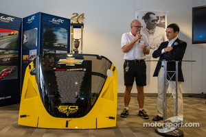 American drivers at Le Mans event: Doug Fehan and ACO President Pierre Fillon