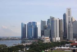 Scenic Singapore skyline