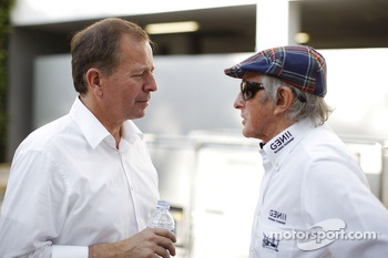 Martin Brundle, Sky Sports Commentator with Jackie Stewart