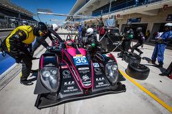 Pit stop for #35 OAK Racing Morgan - Nissan: Bertrand Baguette, Ricardo Gonzalez, Martin Plowman