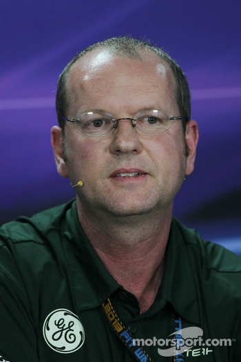 Graham Watson, Caterham F1 Team Manager in the FIA Press Conference