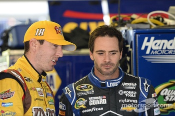 Kyle Busch and Jimmie Johnson
