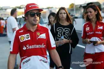 Fernando Alonso, Ferrari with girlfriend Dasha Kapustina