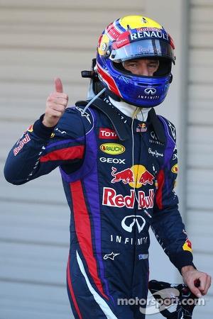 Pole position for Mark Webber, Red Bull Racing