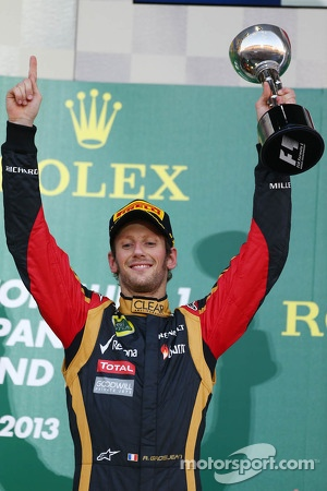 3rd place Romain Grosjean, Lotus F1 Team