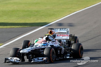 Valtteri Bottas, Williams F1 Team and Paul di Resta, Force India Formula One Team