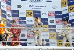 Podium: race winner Felix Rosenqvist, second place Raffaele Marciello, third place Sven Muller
