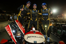 P1 and overall race winners Neel Jani, Nick Heidfeld and Nicolas Prost celebrate