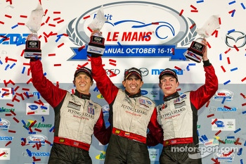 GTC podium: class winners Nelson Canache, Spencer Pumpelly, Madison Snow