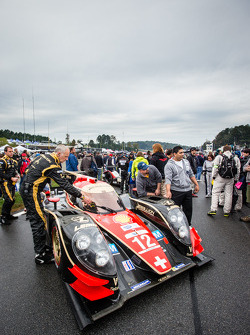 Pole setter #12 Rebellion Racing Lola B12/60 Toyota on the starting grid