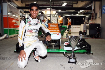 Jehan Daruvala, Sahara Force India Academy Driver, winner of the British KF3 Karting Championship