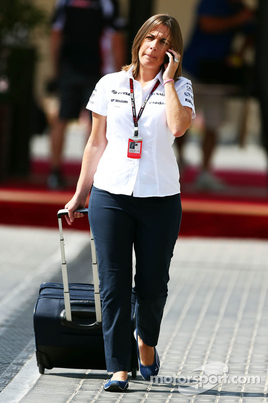 Claire Williams, Williams Deputy Team Principal at Abu Dhabi GP