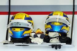 Helmets for Esteban Gutierrez, Sauber