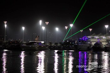 Laser show over the harbour