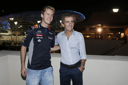 Sebastian Vettel, Red Bull Racing with Alain Prost