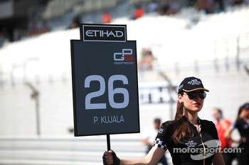 The grid girl of Patrick Kujala