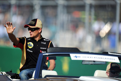 Heikki Kovalainen, Lotus F1 Team on the drivers parade