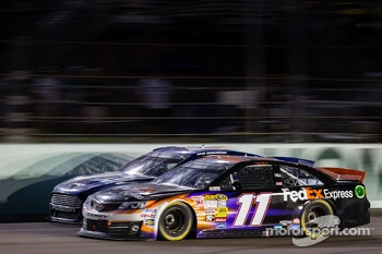 Brad Keselowski, Penske Racing Ford and Denny Hamlin, Joe Gibbs Racing Toyota