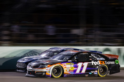 Brad Keselowski, Penske Racing Ford and Denny Hamlin, Joe Gibbs Racing Toyota