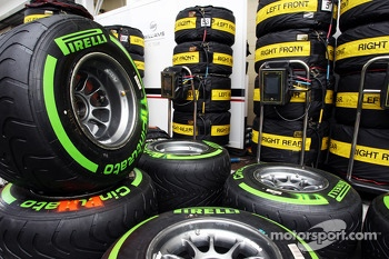 Pirelli tyres for the Williams team