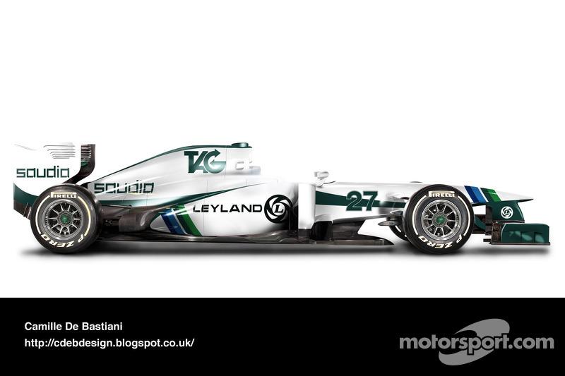 Formel-1-Auto im Retrodesign: Williams 1980