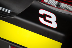 Number 3 and rookie stripe on the Austin Dillon, Richard Childress Racing Chevrolet