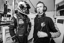 Olivier Pla and OKA Racing team manager Philippe Dumas