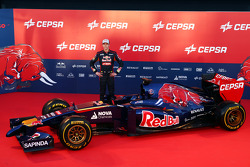 Daniil Kvyat with the Scuderia Toro Rosso STR9