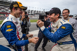 Race winners Christian Fittipaldi and Sébastien Bourdais celebrate