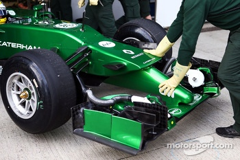Marcus Ericsson, Caterham CT04 - front wing and nosecone detail