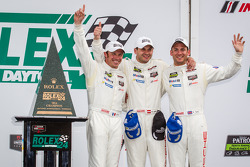 GTLM victory lane: class winners Nick Tandy, Richard Lietz, Patrick Pilet
