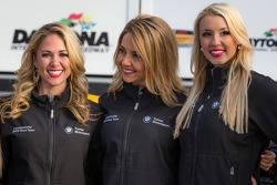 GS victory lane: the Turner Motorsport girls