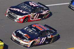 Denny Hamlin, Joe Gibbs Racing Toyota and Kurt Busch, Stewart-Haas Racing Chevrolet