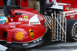 Fernando Alonso, Ferrari F14-T leaves the pits running sensor equipment