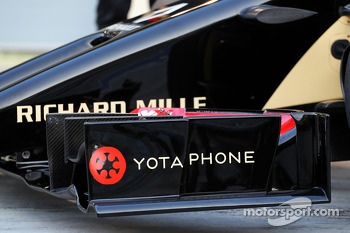 The Lotus F1 E22 is officially unveiled - front wing detail