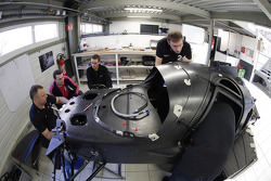 Onroak Automotive engineers work on the Ligier JS P2