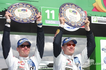 Second place Jari-Matti Latvala and Miikka Anttila, Volkswagen Polo WRC, Volkswagen Motorsport
