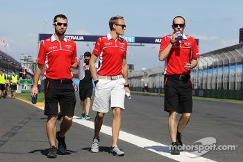 Max Chilton, Marussia F1 Team walks the circuit