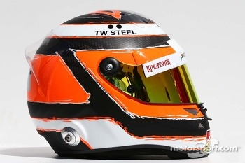 The helmet of Nico Hulkenberg, Sahara Force India F1