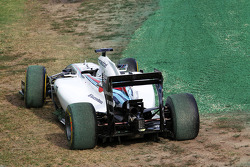 The Williams FW36 of Felipe Massa, Williams, who crashed out at the start of the race
