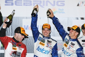 P class podium: winners Marino Franchitti, Memo Rojas, Scott Pruett