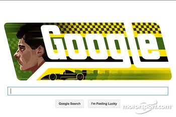 Ayrton Senna Google Doodle in rememberance of his birthday