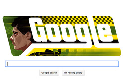 谷歌在埃尔顿·塞纳的生日为他推出的纪念涂鸦