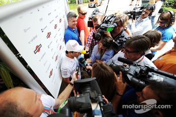 Felipe Massa, Williams with the media