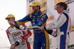 Round 1 Podium Celebrations with Andrew Jordan, Jason Plato and Matt Neal