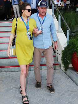 Guy Ritchie, Film Director with his girlfriend Jacqui Ainsley