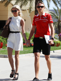 Max Chilton, Marussia F1 Team with his girlfriend Chloe Robert (GBR)