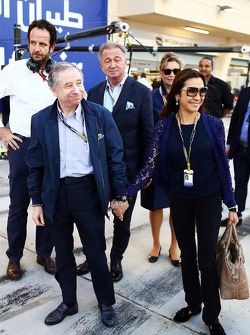Jean Todt, FIA President with Michelle Yeoh (MAL)