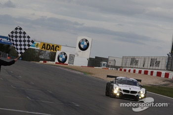 Dirk Werner, Dirk Muller, Lucas Luhr, Alexander Sims, BMW Sports Trophy Team Schubert, BMW Z4 GT3 takes the checkered flag
