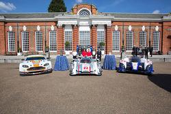 The Aston Martin, Audi and Toyota on display